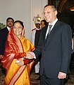 The President, Smt. Pratibha Devisingh Patil meeting with the Prime Minister of Bulgaria, Mr. Sergei Stanishev, in New Delhi on September 12, 2007.jpg