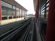 The Rail of MRT in Beijing Capital International Airport.JPG