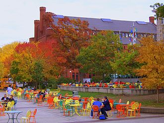 University of Wisconsin Armory and Gymnasium - The Red Gym as seen from the Memorial Union Terrace in 2008
