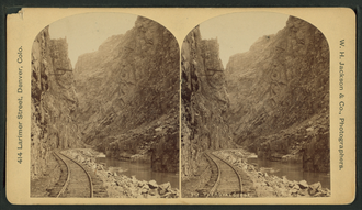 Railroad Wars - The Royal Gorge in 1886 Colorado. Competition to build a line through the Royal Gorge resulted in a railroad war in the late 1870s.