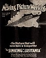 The Sinking of the Lusitania, ad in The Moving Picture Weekly July 27th, 1918, cover.jpg