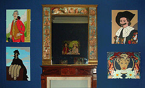 The Stuckists Punk Victorian - The Lady Lever Art Gallery: paintings by Charles Thomson and (bottom right) Paul Harvey.