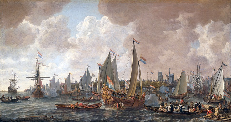 The arrival of King Charles II of England in Rotterdam, may 24 1660 (Lieve Pietersz. Verschuier, 1665)
