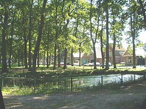 Zuidlaren - View on the largest village green of Zuidlaren.