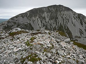 Mackoght - The peak of Mackoght (foreground) with Errigal behind