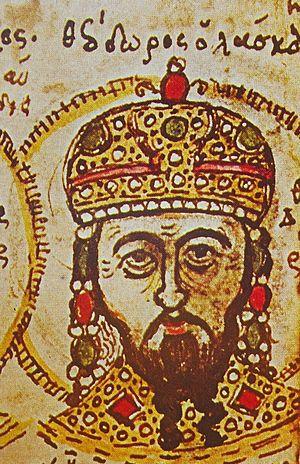Battle of Antioch on the Meander - Theodore I Laskaris (r. 1205–1222), 15th-century manuscript.