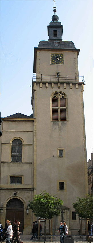 Thionville - The 16th- and 17th-century bell tower of the old city hall.