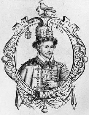 Thomas Lant - Thomas Lant in a 1587 engraving based on his own work