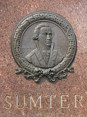 Thomas Sumter - Plaque at the South Carolina statehouse