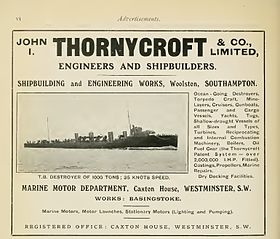 illustration de John I. Thornycroft & Company