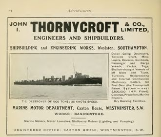 John I. Thornycroft & Company - Image: Thornycroft advertisement Brasseys 1915