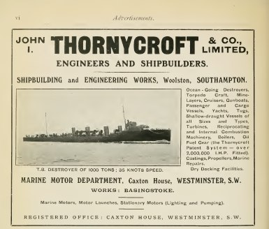 Thornycroft advertisement Brasseys 1915