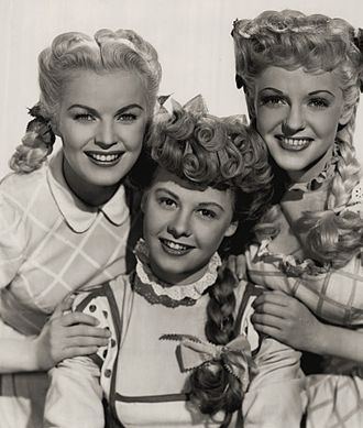 June Haver - L-R: June Haver, Vera-Ellen, and Vivian Blaine in Three Little Girls in Blue (1946)