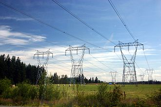 Three-phase electric power - Three-phase electric power transmission lines