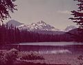 Three Sisters Mountains as seen from Scott Lake in the Cascades (3424972950).jpg
