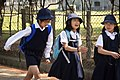 Three school children of Nara; May 2012.jpg