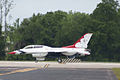 Thunderbirds Lockheed-Martin F-16C Fighting Falcon Number 5 Taxi Out 01 SNF 16April2010 (14629955652).jpg
