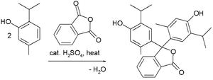 Triarylmethane dye - Friedel–Crafts synthesis of thymolphthalein