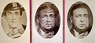 Tichborne case - Photographic evidence was not given weight in the courts because of the belief that such images could be manipulated. The above triptych was assembled after the conclusion of the criminal trial.