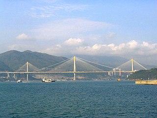 Ting Kau Bridge Bridge in New Territories, Hong Kong