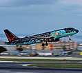 Tintin! @flyingbrussels departing Lisbon (40911202695).jpg