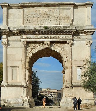 Arch of Titus - Front view of the Arch of Titus