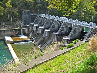 Tokiwa Dam Dam in Nagano Prefecture, Japan