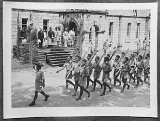His Majesty's Armed Forces (Tonga) - TDF during the Italian capitulation parade.