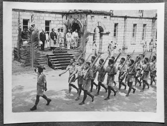 Tonga-Italian Capitulation Parade