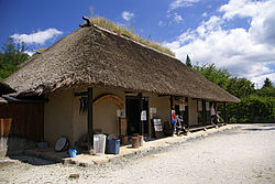 Thatched roof in Tono Furusato Village, a sightseeing spot in Tono