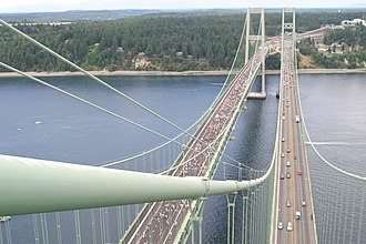2007 in the United States - July 15: Opening ceremony of the second Tacoma Narrows Bridge