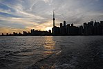 Toronto Skyline from Ward's Island Ferry (19776073881).jpg