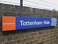 Tottenham Hale stn mainline Stansted Express signage.JPG