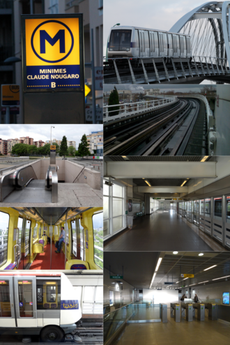 Toulouse Metro - Image: Toulouse Métro Collage