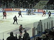 Photo of Pee-Wee teams playing at the Quebec Coliseum in 2009.