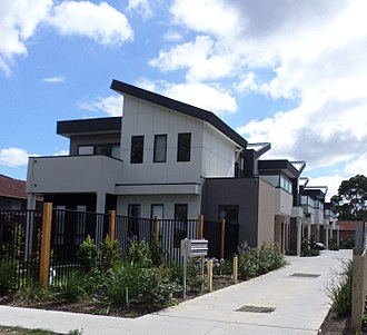 Real estate - A photograph of Townhouses in Victoria, Australia