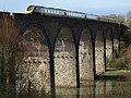 Train crossing Forder Creek viaduct - geograph.org.uk - 1192708.jpg