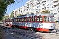 Tram in Sofia in front of Tram depot Banishora 022.jpg
