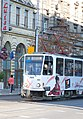 Tram in Sofia near Central mineral bath 2012 PD 058.jpg