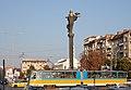 Tram in Sofia near Sofia statue 2012 PD 016.jpg