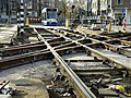 Tram track re-constructions on the roundabout Weteringscircuit, in Amsterdam center, 2014 - Tramrails werkzaamheden op het Weteringscircuit, Amsterdam.jpg