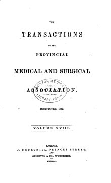 Transactions of the Provincial Medical and Surgical Association, volume 18.djvu