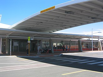 Rockingham railway station, Perth - Station entrance in December 2007
