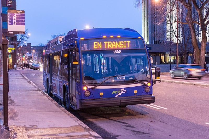 Transporte público no Quebec