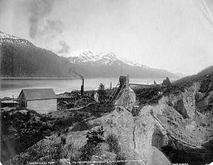 Treadwell gold mine - Treadwell mine, circa 1890s