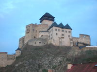 Trenčín castle above the city