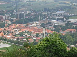 View of Slovenske Konjice from the castle