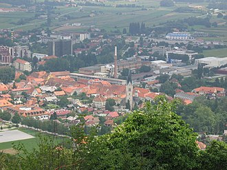 Slovenske Konjice - View of Slovenske Konjice from the castle
