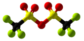 Trifluoromethanesulfonic anhydride Ball and Stick.png