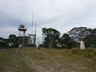 Mount Bindo - Image: Trig point and structures on the summit of Mount Bindo, NSW, Australia